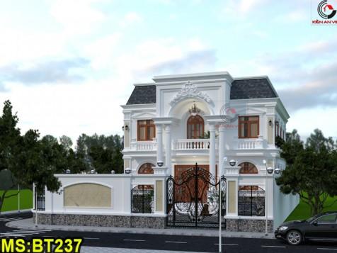 Mẫu biệt thự 2 tầng bán cổ điển Tiền Giang