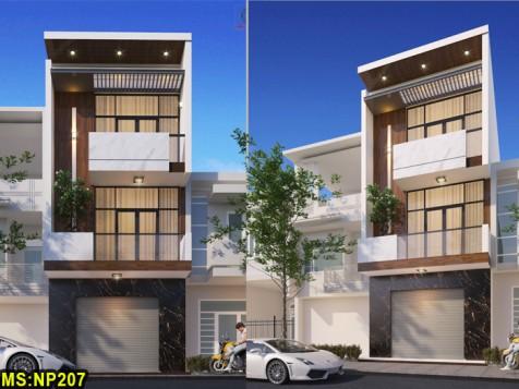 Mẫu nhà phố 3 tầng đẹp Quận 12