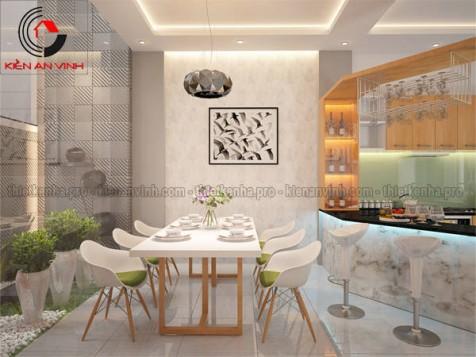 Mẫu thiết kế nội thất phòng bếp ăn đẹp