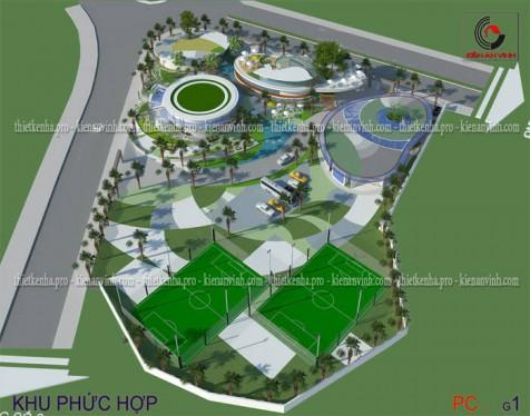 Dự án thiết kế công trình khu phức hợp đẹp tại Khánh Hòa